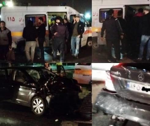 جزییات تصادف شدید خواننده سرشناس پاپ در تهران از زبان مدیر برنامه وی