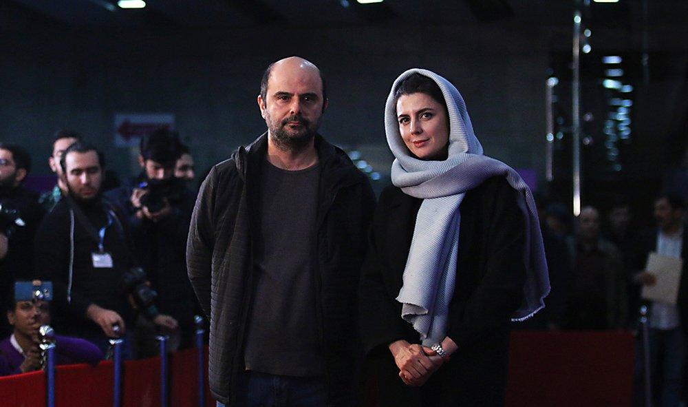 عکس-لیلا-حاتمی-کنار-علی-مصفا-روی-فرش-قرمز-جشنواره