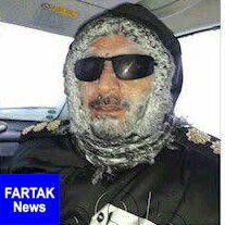 صورت یخ زده سرهنگ هنگام امدادرسانی در فیروز کوه