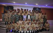 تکریم سربازان وظیفه گروهان پاسدار وتامین تیپ ۷۱  پیاده مکانیزه ابوذر