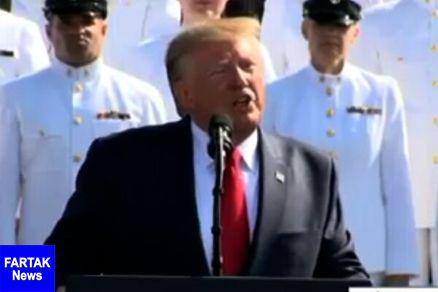 ترامپ: احدی نمیتواند مقابل ارتش آمریکا ایستادگی کند!