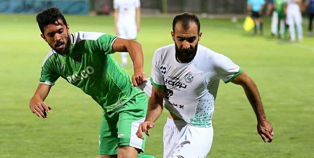 پیروزی پرگل ذوب آهن مقابل نفت مسجدسلیمان در پایان نیمه اول