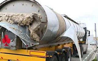 جاسازی ۲ تن تریاک و مرفین در تریلی حمل سوخت + فیلم