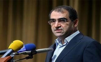 تابوت شهدای حادثه تروریستی اهواز بر شانه وزیر بهداشت +فیلم
