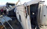تصادف اتوبوس و پراید در قم 25 مصدوم برجای گذاشت