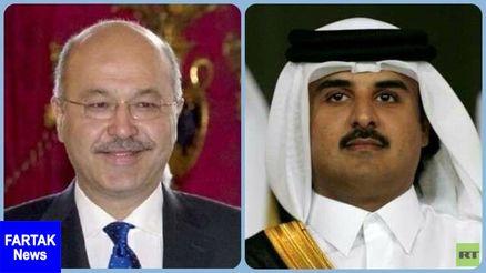 سفر رئیس جمهوری عراق به قطر