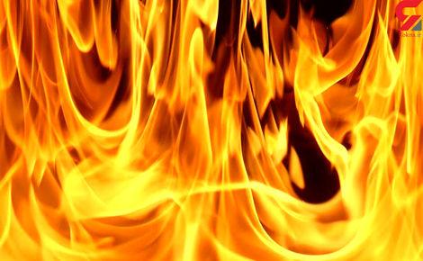 فیلمی از آتش سوزی در محدوده جاده مخصوص کرج