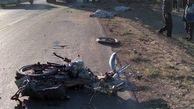 مرگ دلخراش ۲ راکب موتورسیکلت در جاده نیشابور