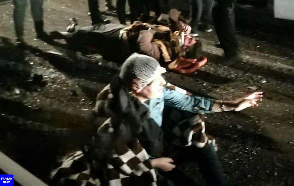 واژگونی وحشتناک اتوبوس تبریز - تهران / 22 کشته و زخمی در بامداد امروز