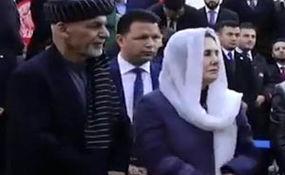 تذکر اشرف غنی به همسرش برای رعایت حجاب اسلامی + فیلم