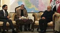 حضور رئیس مجلس عراق در سفارت ایران در بغداد برای تبریک پیروزی انقلاب