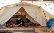 مردم سرپلذهاب با سختی زیر چادرهای 10 متری زندگی میکنند