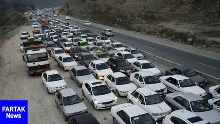 ترافیک نیمه سنگین در کرج-چالوس و هراز