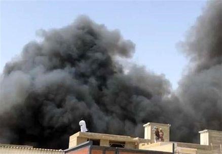 سقوط یک هواپیمای مسافربری در پاکستان با ۱۰۰سرنشین