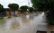 ثبت ۱۳۵ میلیمتر بارش در منطقه قلعه رئیسی کهگیلویه و بویراحمد