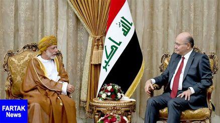برهم صالح در دیدار با بن علوی: ثبات عراق عامل اصلی امنیت منطقه است