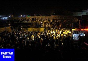 اسامی جانباختگان حادثه برخورد تانکر نفتکش با اتوبوس