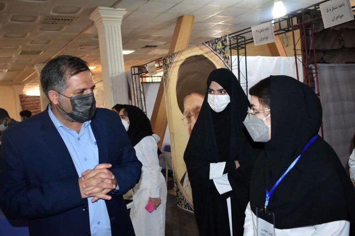 مشارکت ۲۵۰ نفر از دانشجویان دانشگاه در پویش «مجاهدین واکسیناسیون»