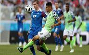 جام جهانی2018 نتیجه نیمه اول دیدار ایسلند-نیجریه