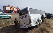 واژگونی اتوبوس بانوان کاراتهکای فارس
