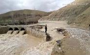 سیل پل روستای «مرادآباد گل گل» دلفان را تخریب کرد