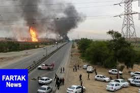 ۱۰ کشته و زخمی بر اثر انفجار خط لوله نفت در مسیر اهواز به رامهرمز