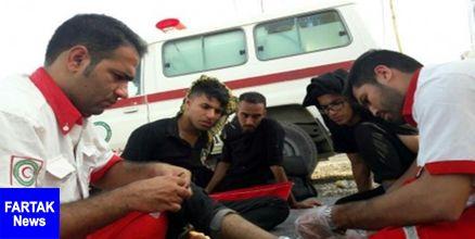 درمان سرپایی 544 زائر در دو روز گذشته توسط هلالاحمر