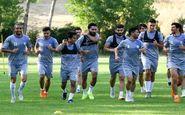 تمرین استقلال در کمپ ناصر حجازی در روز بازگشت مصدومان