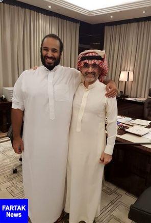 نخستین تصویر ولید بن طلال در کنار بن سلمان پس از آزادی
