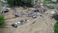 سیل وحشتناکی که یک شهر را فلج کرد/ خسارت شدید سیلاب به دهها خودرو + فیلم