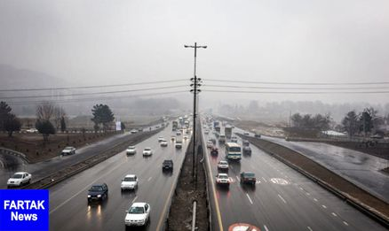 جمعه 24 فروردین  وضعیت جوی و ترافیکی جاده ها
