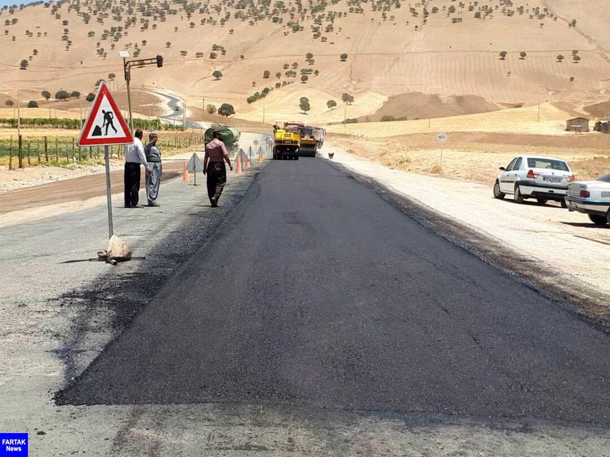 آغاز عملیات بهسازی محور تازه آباد به شیخ صله