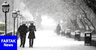 هواشناسی ایران ۹۸/۱۰/۸  بارش برف و باران ۲ روزه در برخی استانها