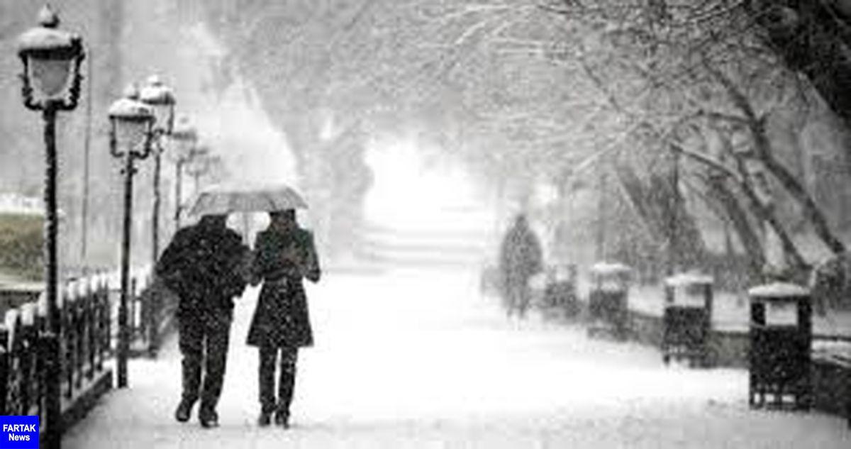 هواشناسی ایران ۹۸/۱۰/۸| بارش برف و باران ۲ روزه در برخی استانها