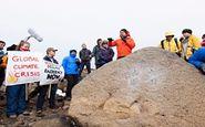 مراسم ختم برای از دست دادن یخچال معروف در جزیره ایسلند!