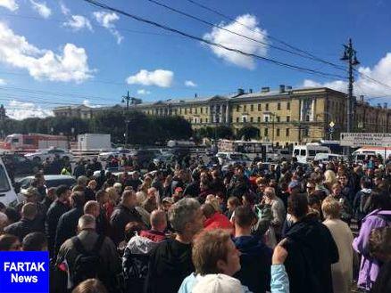 مخالفان افزایش سن بازنشستگی در سن پترزبورگ تظاهرات کردند