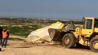تخریب یک روستای فلسطینی توسط اشغالگران برای صد و پنجاه و ششمین بار