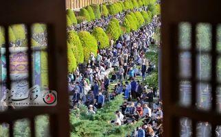 نماز عید فطر در اصفهان به روایت تصویر