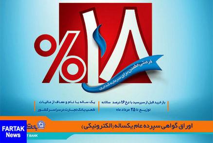 فروش اوراق گواهی سپرده ۱۸ درصدی بانک تجارت