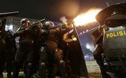 حمله پلیس به معترضان انتخاباتی در جاکارتا