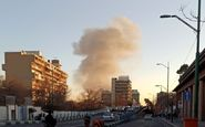 وقوع حریق گسترده در یک باربری در خیابان شوش تهران