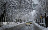 بارش برف بهاری اینگونه تهرانیها را غافلگیر کرد