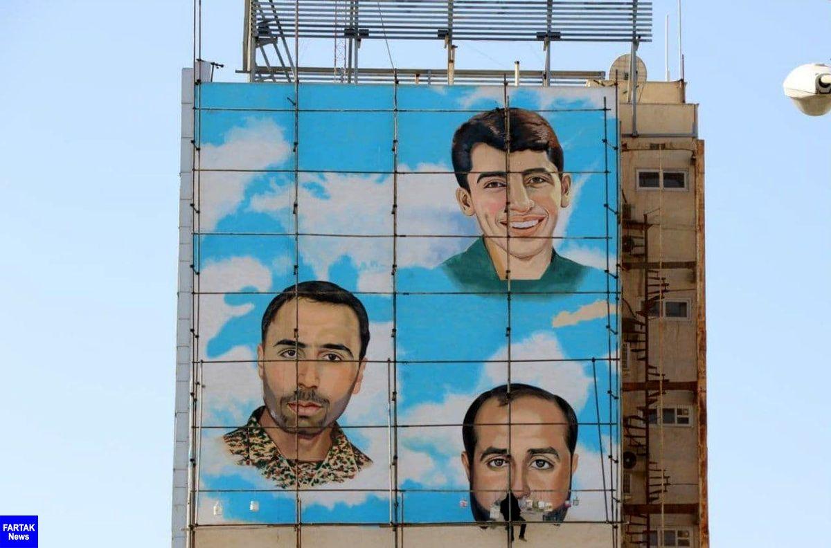 با اجرای طرح نقاشی دیواری، تمثال مبارک شهدای مدافع حرم  بربلندای سمنان خواهد درخشید