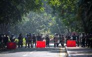 حمله پلیس میانمار به محل تجمع معترضان