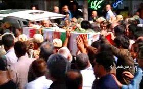 تشییع شهدای حوادث تروریستی تهران در خراسان شمالی + فیلم