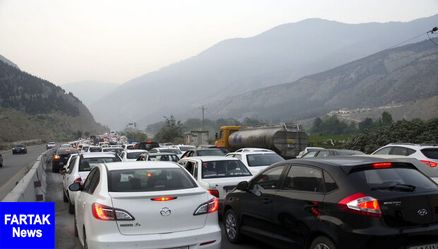 کندوان یکطرفه شد/ ترافیک سنگین محور هراز