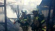 آتشسوزی و ریزش آوار در بازار تهران
