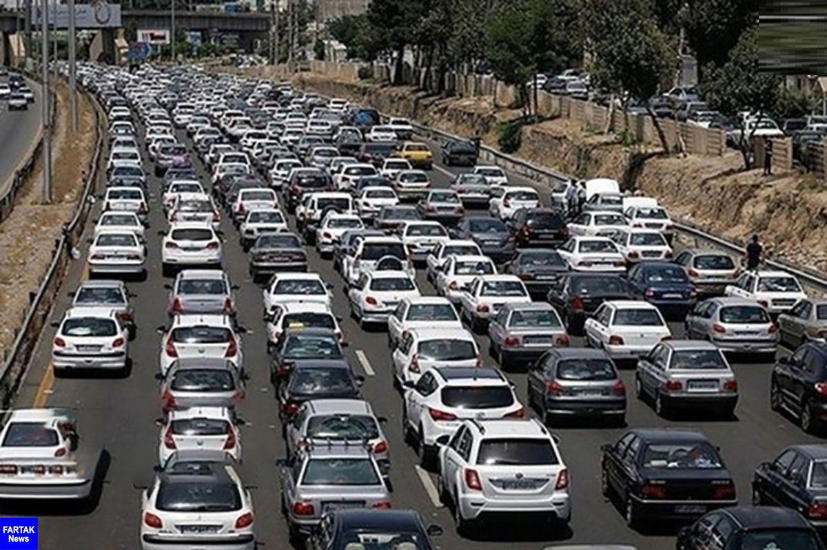 ترافیک سنگین در آزادراه تهران-قزوین و ترافیک نیمه سنگین در محور شهریار