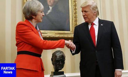 """رهبران آمریکا و انگلیس بر  """"همکاری برای واکنش به حمله شیمیایی در سوریه"""" توافق کردند"""
