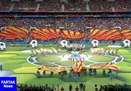جام جهانی ۲۰۱۸| مراسم افتتاحیه در ورزشگاه لوژنیکی مسکو برگزار شد